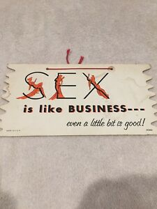 Vintage Sex Is Like Business Banner Sign Adult Novelty Humor Wall Decor Mancave