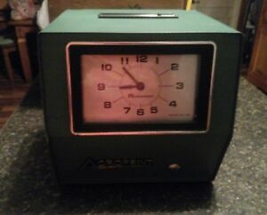 Vintage Acroprint Time Recorder Auto Punch Clock 200q4 2 Keys Instructions