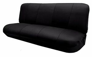 Mesh Black Full Size Bench Seat Cover Fits Most Classic Cars Trucks