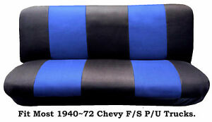 Mesh Black Blue This Seat Cover Fit Most 1940 72 Chevy Full Size Trucks Models