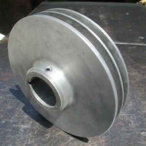 Monarch 10ee Toolroom Lathe Main Dc Motor 2 sheave V belt Drive Pulley
