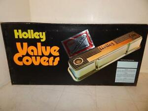 Nos Holley Chrome Valve Covers Tall Sbc Chevy 283 302 305 327 350 383 400 405