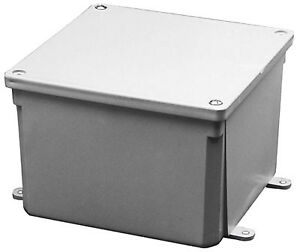 Thomas Betts E989ncar 8x8x4 Pvc Junction Box