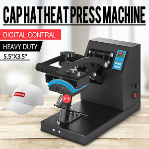 7 X 3 75 Cap Hat Heat Press Transfer Sublimation Machine Steel Frame Digital