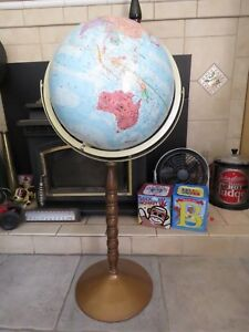 Globe Vintage Replogle World Nation 12 Metal Axis Floor Stand Approx 1985