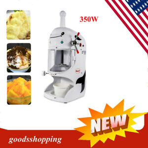 Commercial Snow Cone snow Machine shaved Ice Machine Ice Crusher 350w Hot