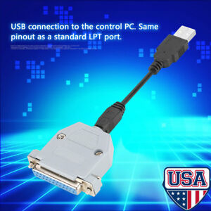 Usb Cable 25 Pin Usb To Parallel Adapter Converter Cnc Controller For Mach3 Us