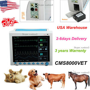 Vet Pet Icu Monitoring Multiparameter Vital Signs Veterinary Patient Monitor new