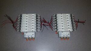 Smc Pneumatic Valves With Manifold lot Of 2