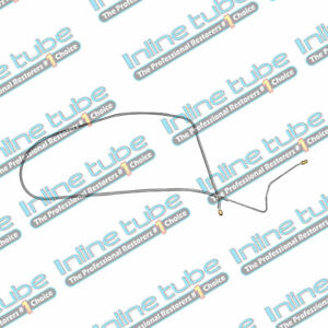 1967 Chevrolet Corvette Manual Disc Front To Rear Brake Line Kit 1pc Stainless