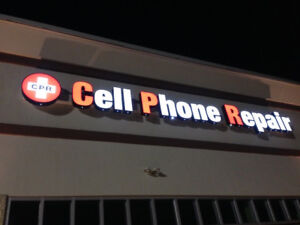 Cell Phone Repair Channel Letter Sign