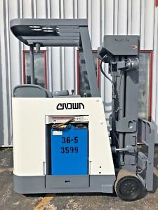Crown Docker Stand Up Rc3020 40 Electric 4000lb Forklift Lifttruck