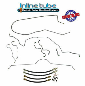 70 73 Chevrolet Corvette Power Disc Brake Line Kit Flex Hose Set Oem Steel
