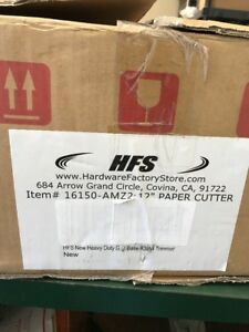 Hfs Heavy Duty Guillotine Paper Cutter 12 Commercial Metal Base A3 a4 Trimmer