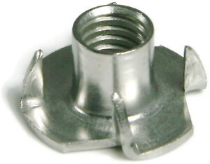 Tee Nut Stainless Steel T Nuts 3 4 Prong Barrel Nuts All Sizes Qty 100
