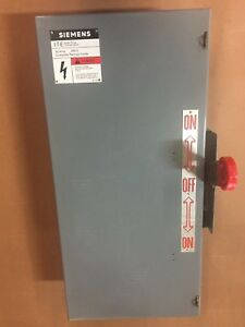 Siemens Double Throw Switch 30a 240 250v Ac dc 3 Pole Type 1 Nf321dtk