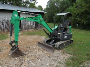 2012 Bobcat E32 Mini Compact Track Excavator With 18 Tooth Bucket Ship 500