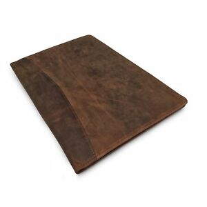 Leather Portfolio Professional Resume Padfolio Document Folder