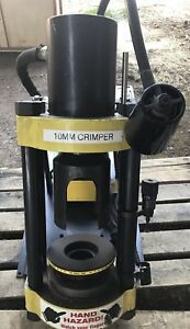 Parker Th8 d206 80 Ton Hydraulic Hose Crimper 115 Volt With 4 Extra Dies