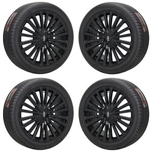 19 Lincoln Mkz Black Wheels Rims Tires Factory Oem Set 10131