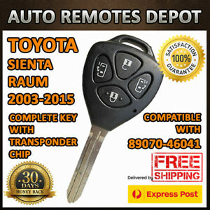Remote Keyless Entry Key Transmitter Fob For Toyota Sienta Raum 89070 46041 Chip