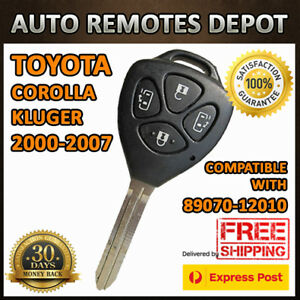 Remote Keyless Key Transmitter Fob For Toyota Corolla Kluger 89070 12010 Chip