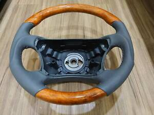 98 06 For Mercedes Cl S W215 W220 Steering Wheel Chestnut Wood Gray Leather