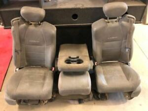 05 07 Ford F250 Super Duty Front Right Left Leather Lariat Seats W Console