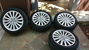 2018 Audi A3 17 Inch Factory Oem Wheels Rims And Tires Set Of 4
