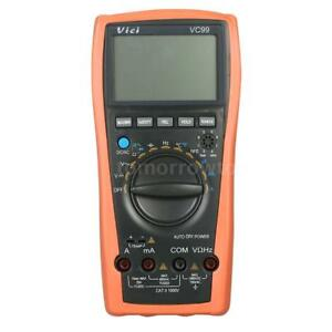 Vici Vc99 Lcd Digital Multimeter Auto Range Dmm With Temperature Detector Y5i0