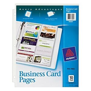 Avery Business Card Pages Pack Of 10 76009