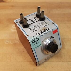 Helipot T 10 a 100k Ohm Precision Potentionmeter 5 Watts 0 1 Amp Used