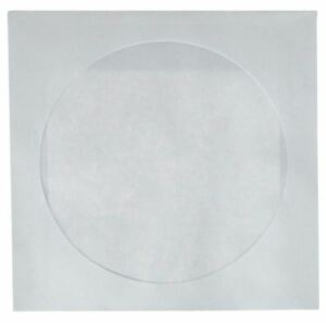 Best 1000 Pack White Cd dvd White Paper Sleeves Cover With Flap