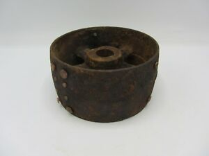 Vintage Cast Iron 6 1 8 Keyed Flat Belt Pulley Line Shaft Gas Hit Miss Engine