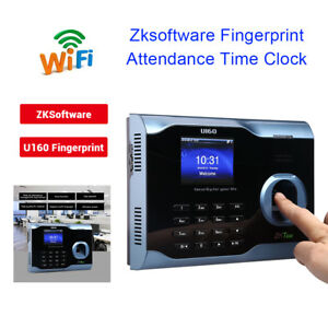 3 Color Tft Screen Fingerprint Biometric Wifi Time Attendance Usb Workcode Sms