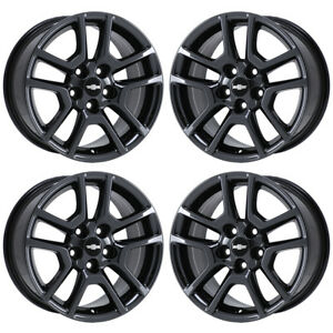 17 Chevrolet Malibu Black Chrome Wheels Rims Factory Oem Set 4 5559