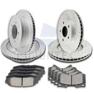 Front Rear Brake Discs Rotors Ceramic Pads For 2010 2011 2015 Toyota Tundra
