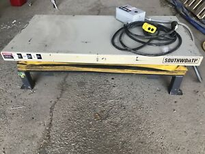 Southworth 2000lb Hydraulic Scissor Lift Table 30 x60 3 Phase
