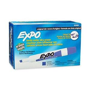 Expo Low odor Dry Erase Markers Chisel Tip Purple 12 count