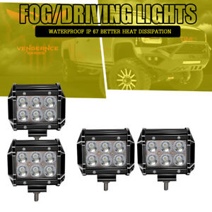 4x 4inch Led Work Light Bar Spot Pods Atv 4x4 Boat Offroad Suv Fog Driving Lamp