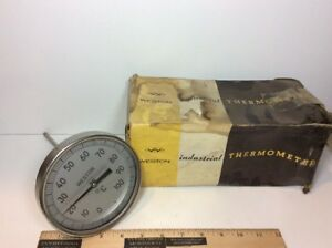 Weston Model 4500 Industrial Thermometer Gauge C 0 100 Celsius Npt 3 4 Steampunk