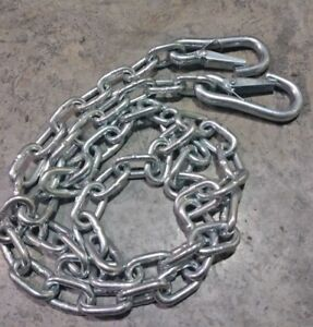 Pair Of Trailer Safety Chains For Towing With Slip Hook 36 Long