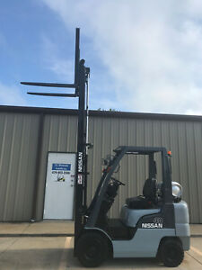 2008 Nissan Propane Forklift Mp1f1a20lv Nice 4000lb Lift Only 5442 Hours