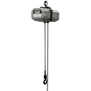 Jet 1 2ss 1c 10 1 2 Ton Electric Chain Hoist 1ph 10 Lift 115 230v Prewired 230v