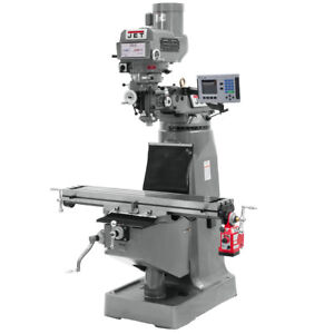 Jet Jtm 4vs 1 Mill With Acu rite 200s Dro With X axis Powerfeed 690179