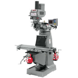 Jet Jtm 4vs Mill W X And Y axis Powerfeeds With Power Draw Bar 690009
