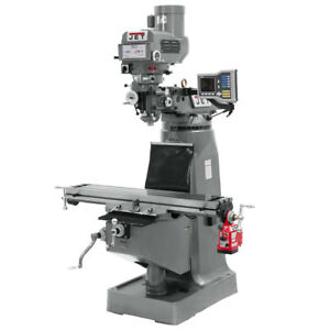 Jet Jtm 4vs Mill Acu rite Vue Dro X axis Powerfeed And 6 Riser Block 690265