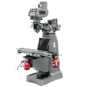 Jet Jtm 4vs Mill With 3 axis Acu rite Vue Dro quill X y axis Powerfeeds 690416