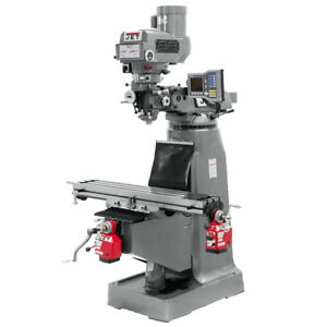 Jet Jtm 4vs 1 Mill With Acu rite Vue Dro And X And Y axis Powerfeeds 690407