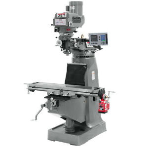 Jet Jtm 4vs Mill With 3 axis Acu rite Vue Dro knee X axis Powerfeed 690408